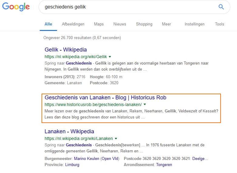 Online marketing Gellik